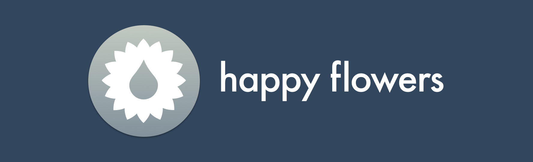 happy flowers logo