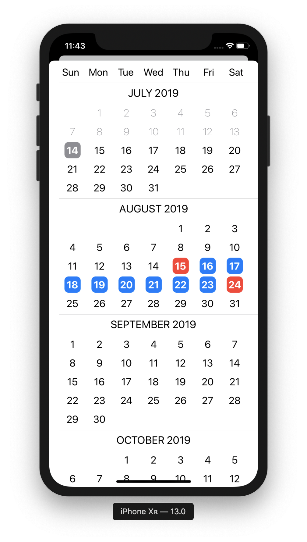 demo app first screenshot