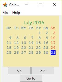 GitHub - RaghavaDhanya/Calendar: GUI app with TKinter