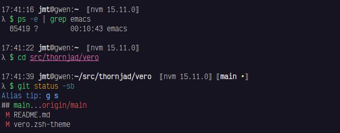 Screenshot of Vero