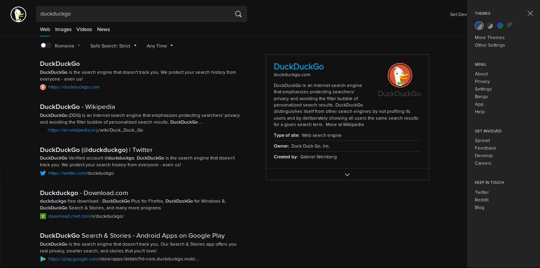 DuckDuckGo DeepDark screenshot