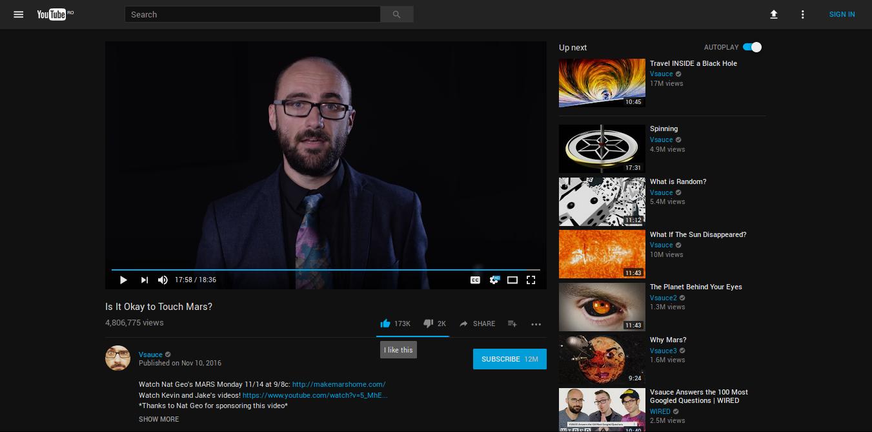 YouTube DeepDark Material screenshot