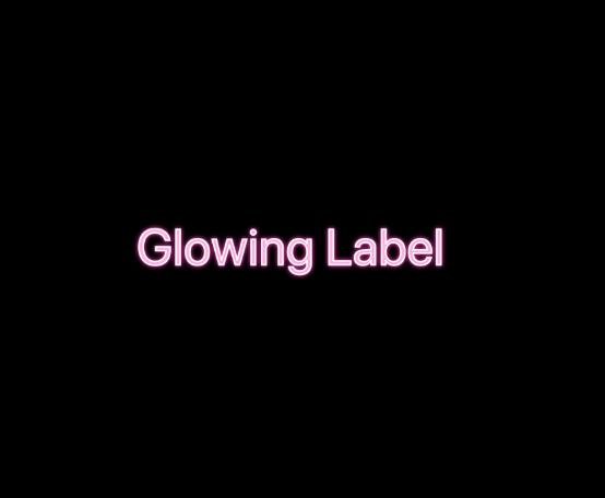 GlowingLabel