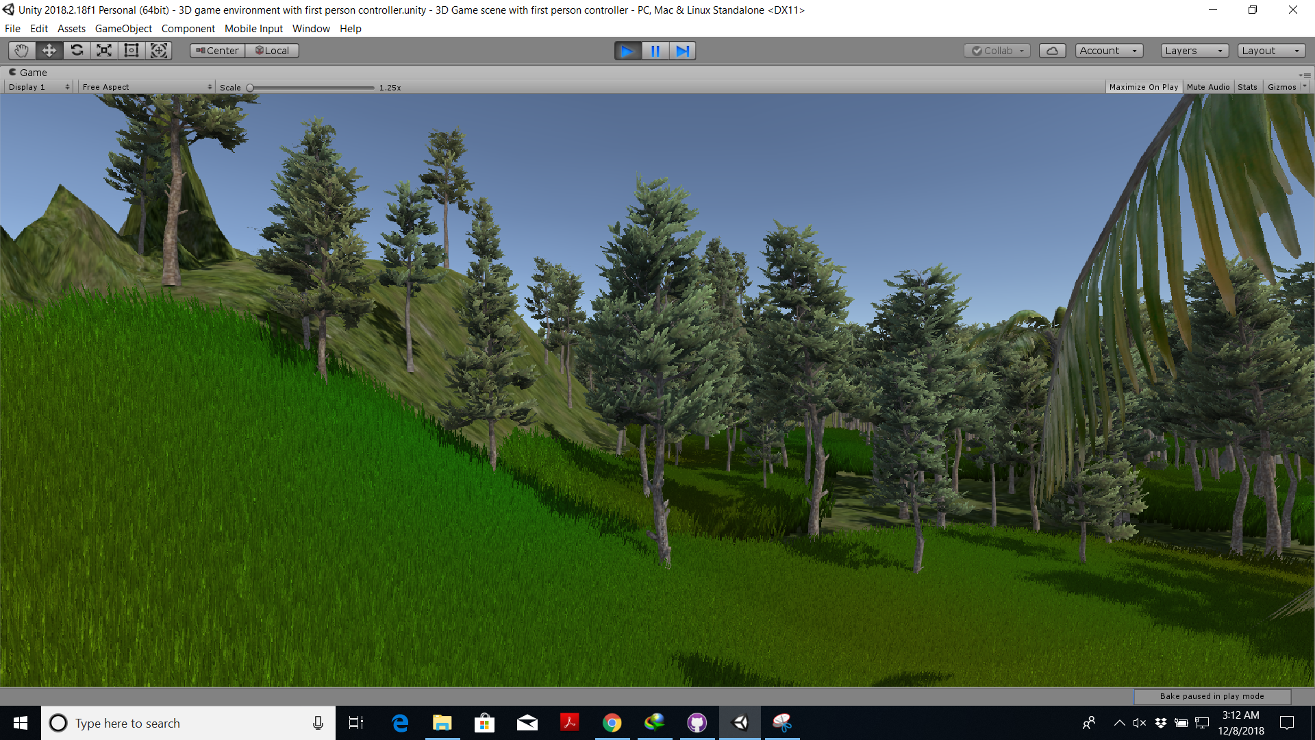 3D Game Scene With First Person Controller - UnityList