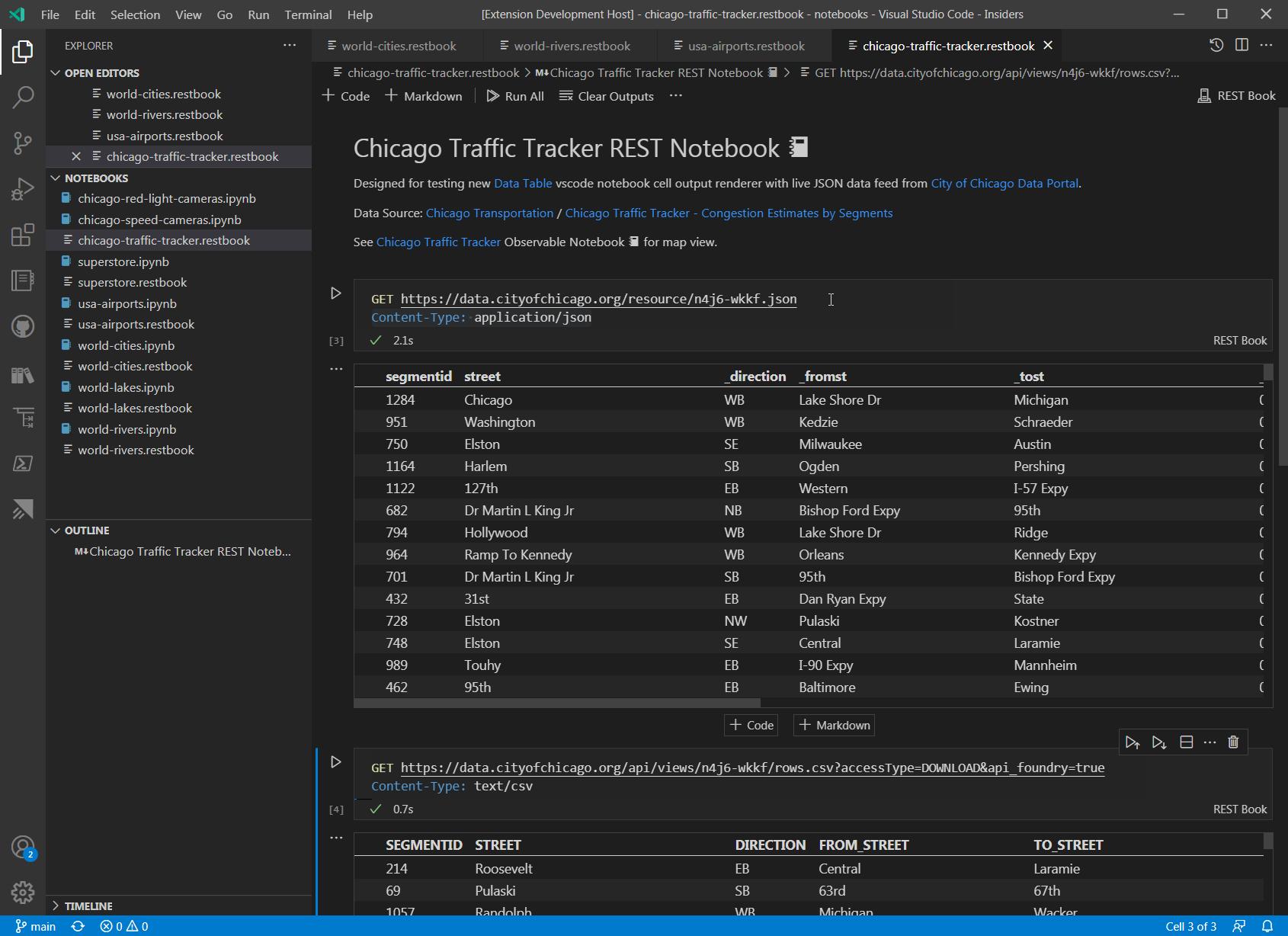 Chicago Traffic Data REST Book 📓