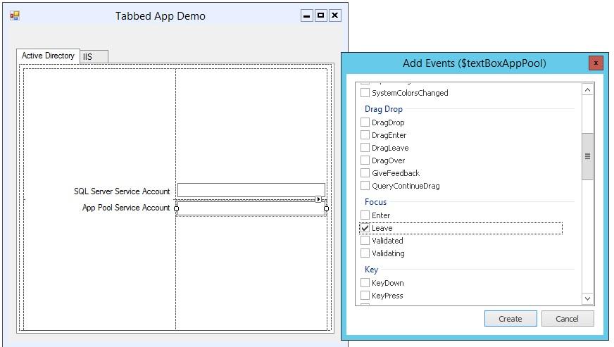 Event Driven App with Sapien Powershell Studio – CompuFlailing