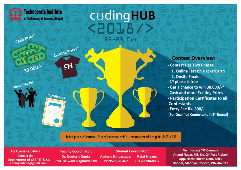 codingHUB | Programming challenges in February, 2018 on HackerEarth