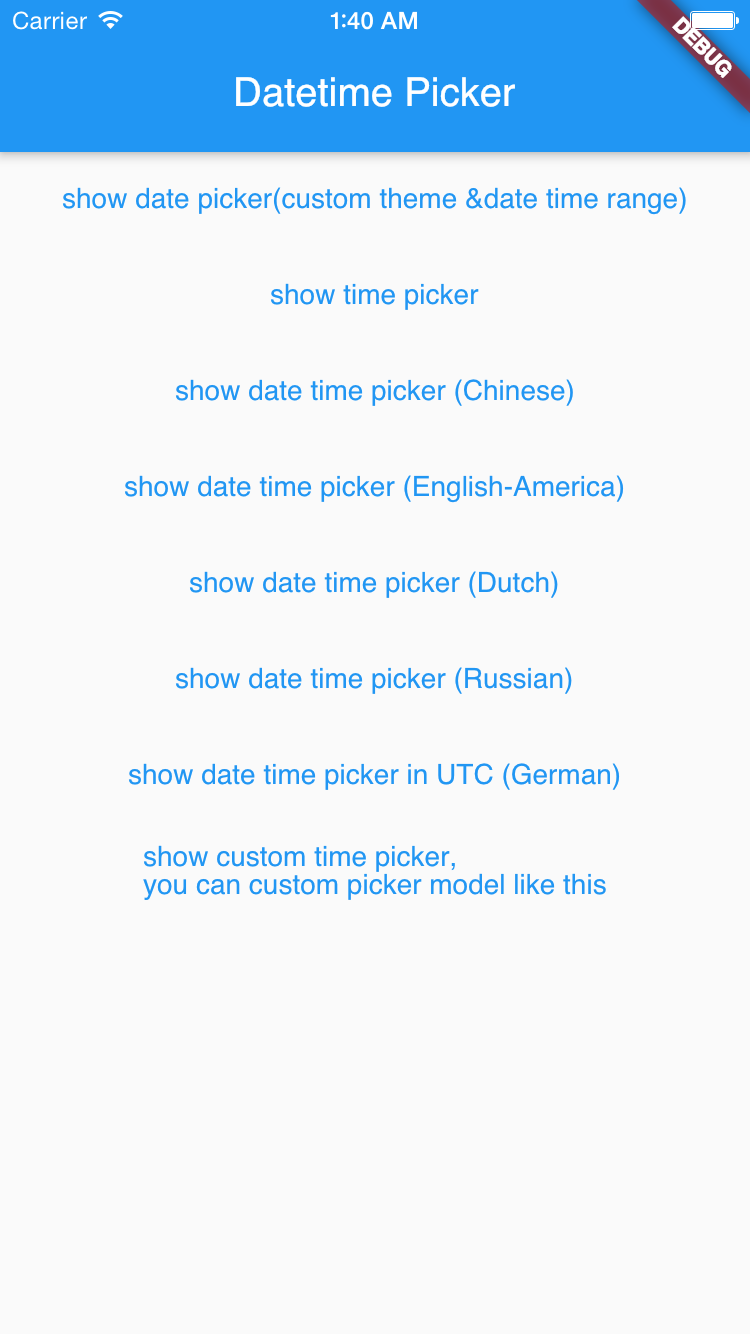 Flutter Datetime Picker In Multiple Languages