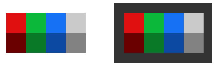 Color palette for brand