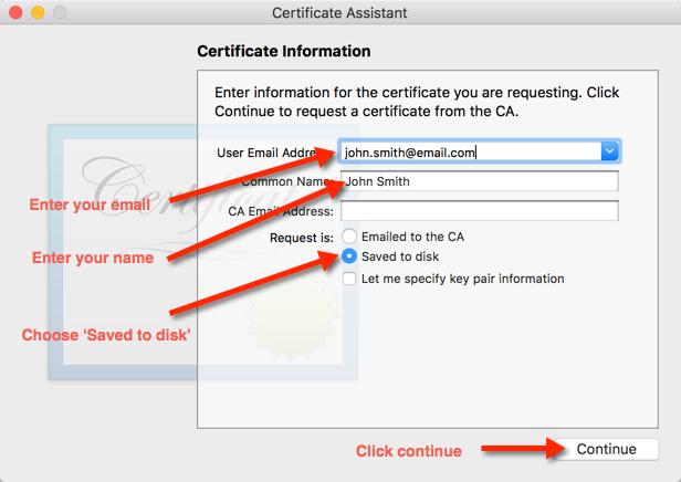 Step 7. Enter Certificate Signing Request Details