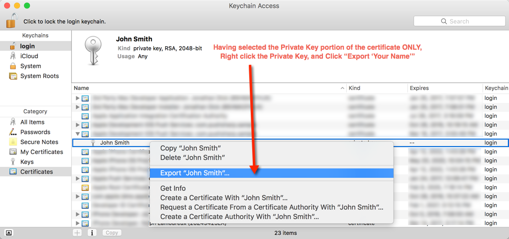 Step 13. Export the Private Key
