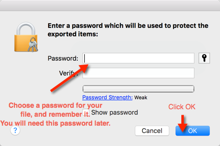 Step 15. Password Protect the .p12 File