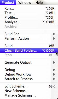 Clean Build Folder