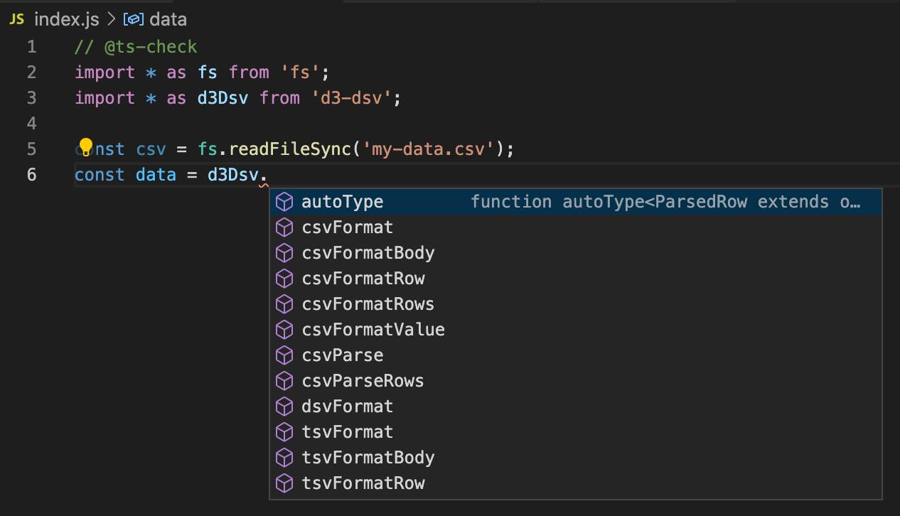 TypeScript-powered autocomplete