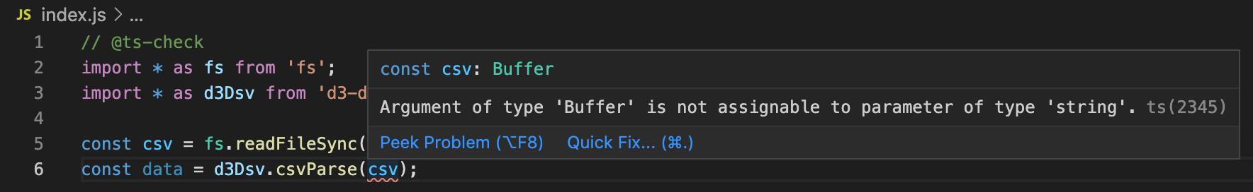 TypeScript-powered typechecking