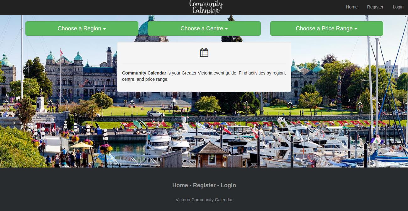 """Screenshot of Home Page"""