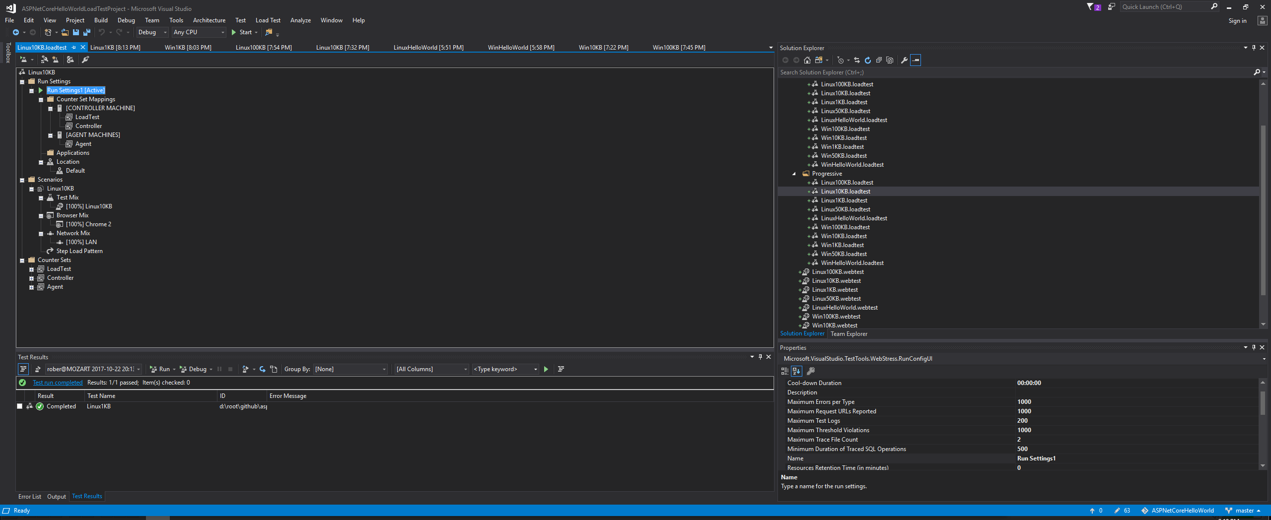 Visual Studio Perfomance Tests