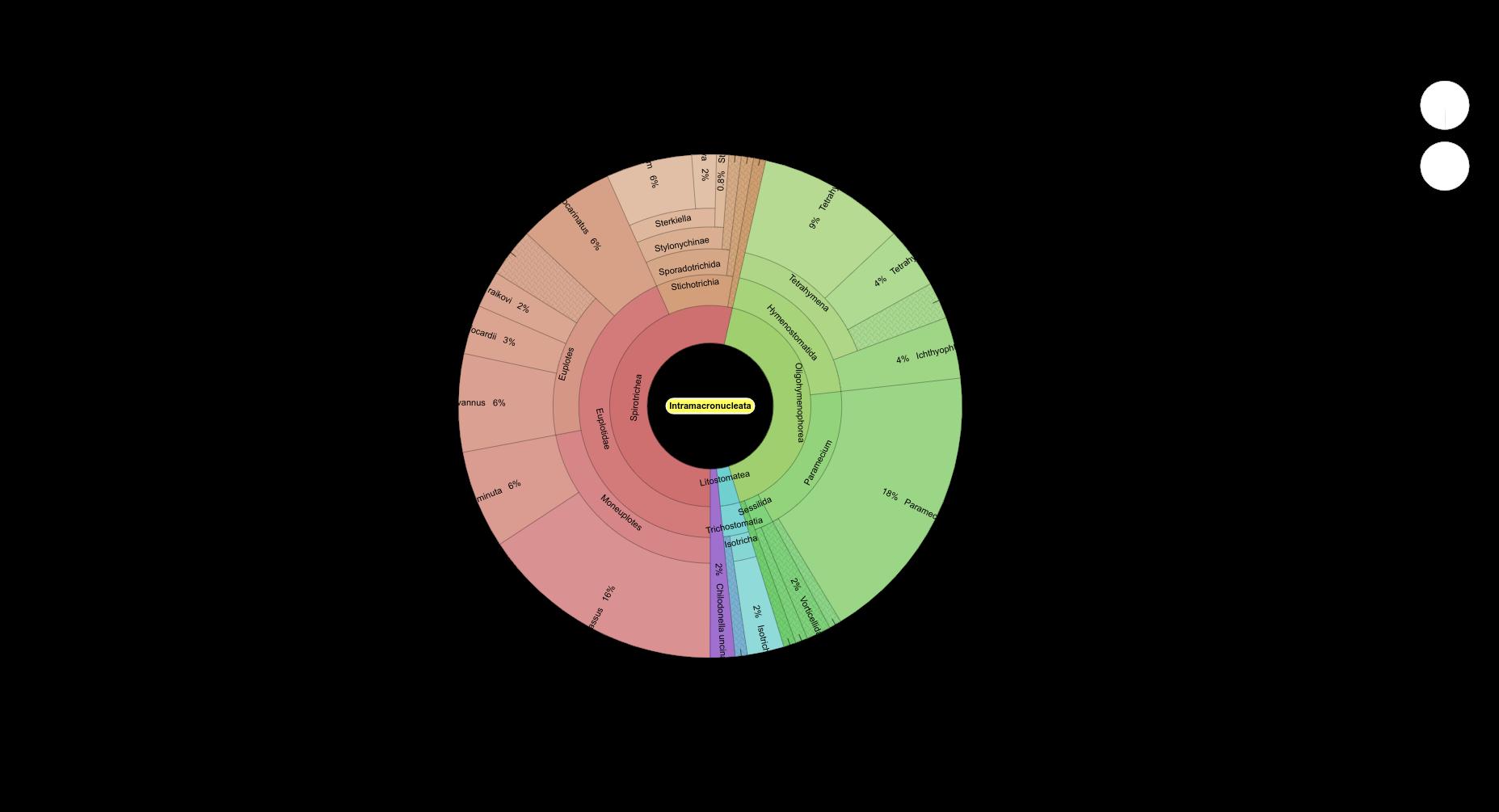 pH=7.1 Intramacronucleata krona plot