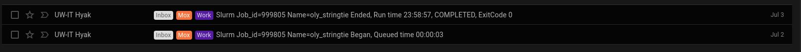 Stringtie runtime screencap