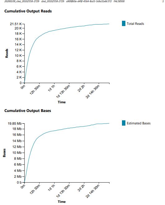 cbai nanopore second run cumulative read plots