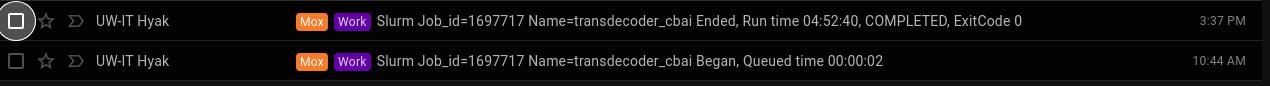 Transdecoder runtime