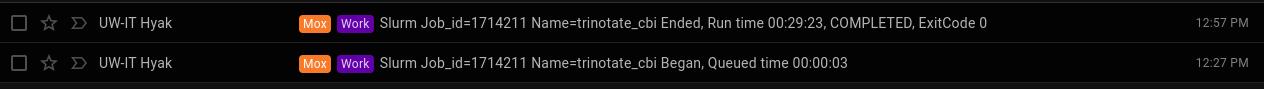 Cbai Trinotate runtime