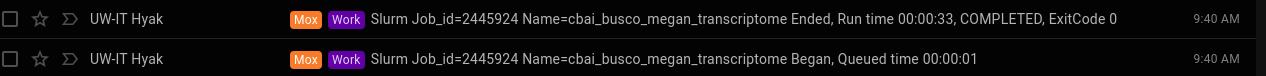 BUSCO runtime