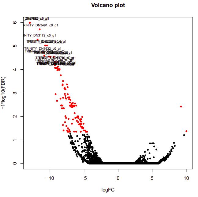 D12-D26 volcano plot