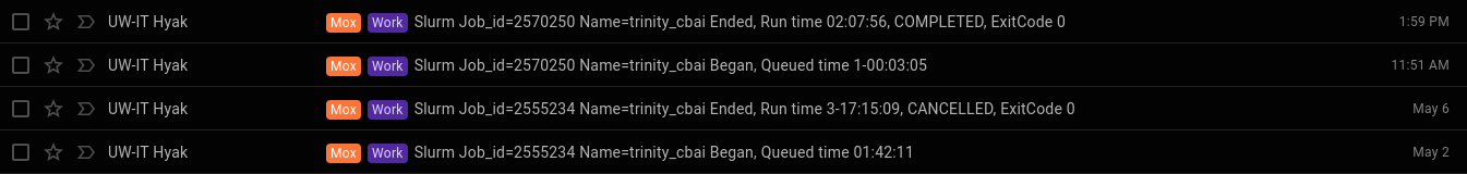 cbai Trinity all RNAseq runtime