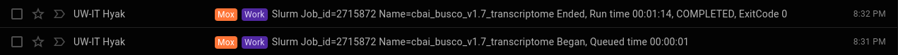 cbai v1.7 busco runtime