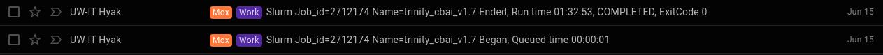 Trinity pooled Arthropoda RNAseq runtime