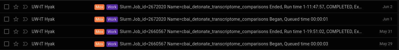 cbai transcriptome comparisons runtime