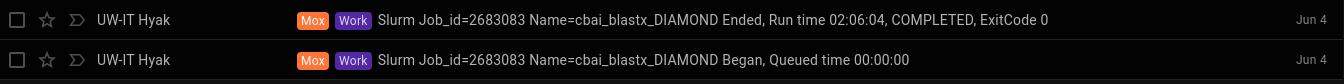 cbai transcritpomes 2.0 and 3.0 diamond blastx runtime