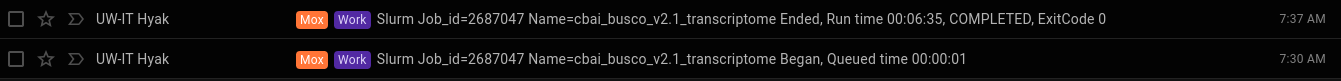 cbai v2.1 BUSCO runtime