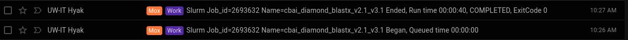 cbai v2.1 and v3.1 diamond blastx runtime