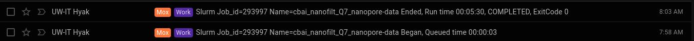 NanoFilt runtime on C.bairdi Q7 filtered NanoPore reads