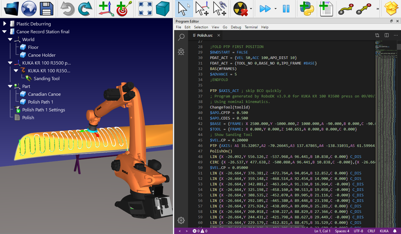 KUKA KRC robot program
