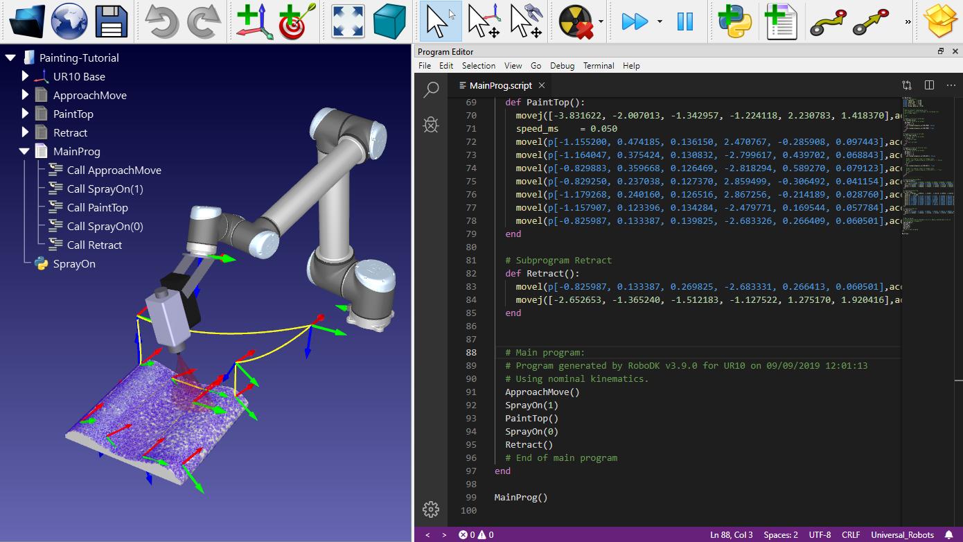 Universal Robots Script robot program