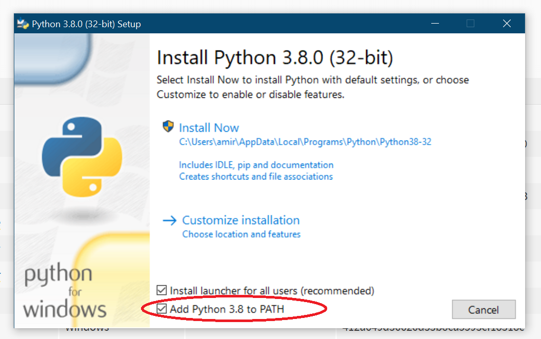 install Python Win