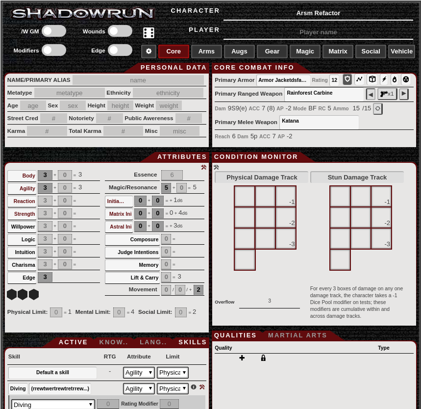 Shadowrun on Roll20 Tutorial 18:00 UTC 2/17/2019 : Shadowrun