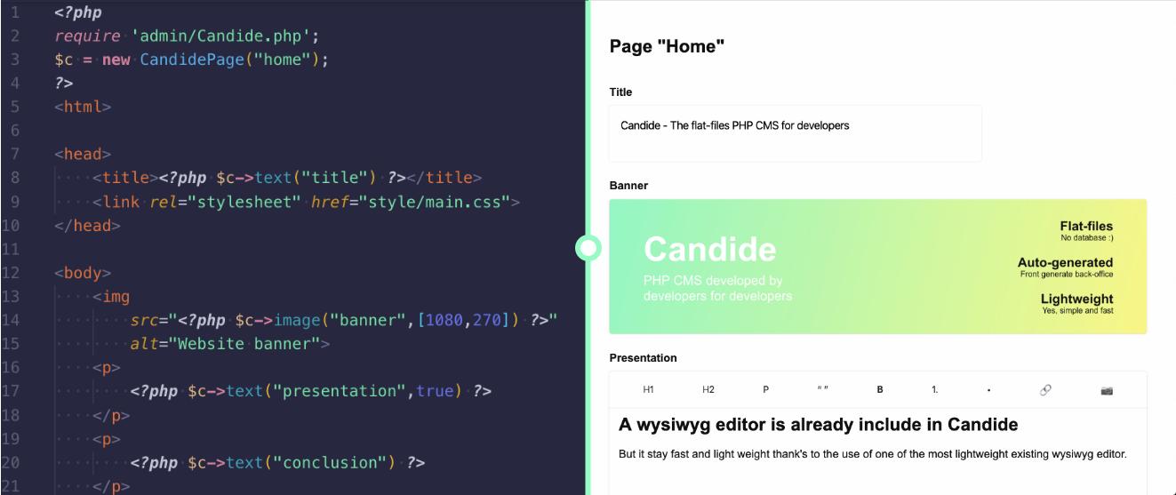 Candide admin platform generation