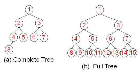 完全二叉树和满二叉树