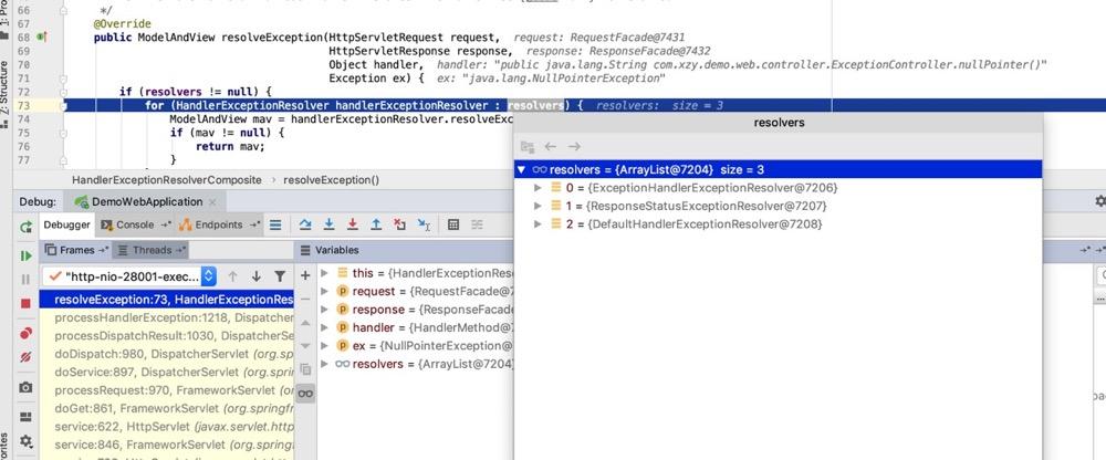 SpringMVC中的几个HandlerExceptionResolver
