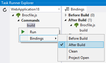 Visual Studio bindings