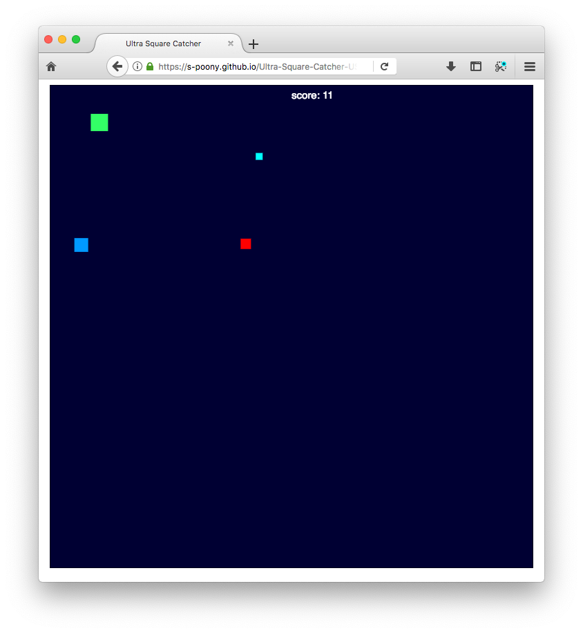 A screenshot of Ultra Square Catcher
