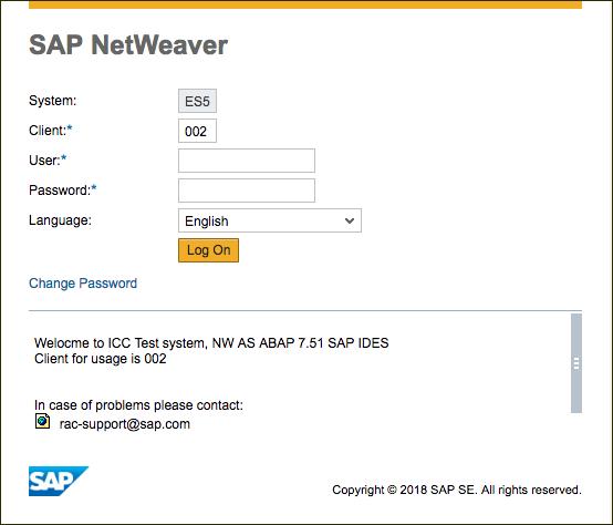 Initial login - Gateway Web GUI