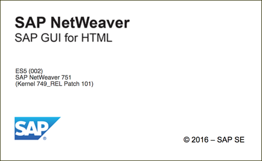 SAP NetWeaver Gateway Splash Screen