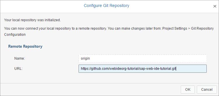 Paste remote repository URL