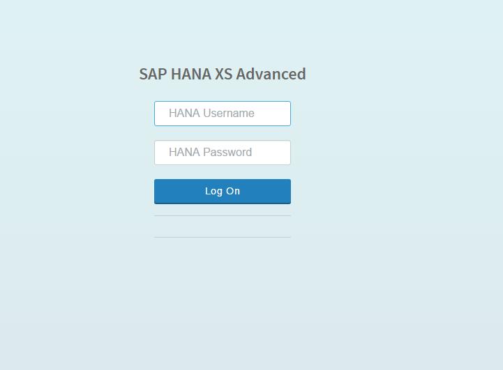 Log in to SAP Web IDE for SAP HANA