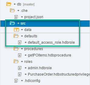 Folder structure in Web IDE for SAP HANA